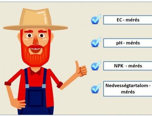 EC, pH, NPK mérés talajban – mérési eszközök